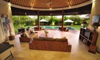 Indoor Living Area with Pool View - Villa Lea - Umalas, Bali
