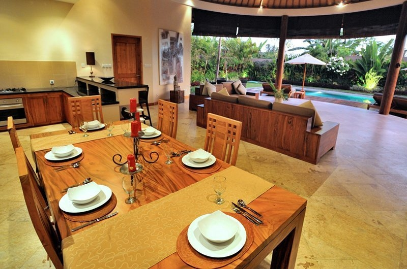 Living and Dining Area with Pool View - Villa Lea - Umalas, Bali