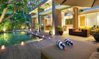 Pool Side Seating Area - Villa Luna Aramanis - Seminyak, Bali