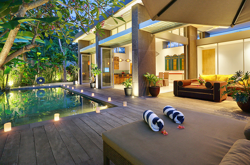 Pool Side Seating Area - Villa Luna Aramanis - Seminyak, Bali