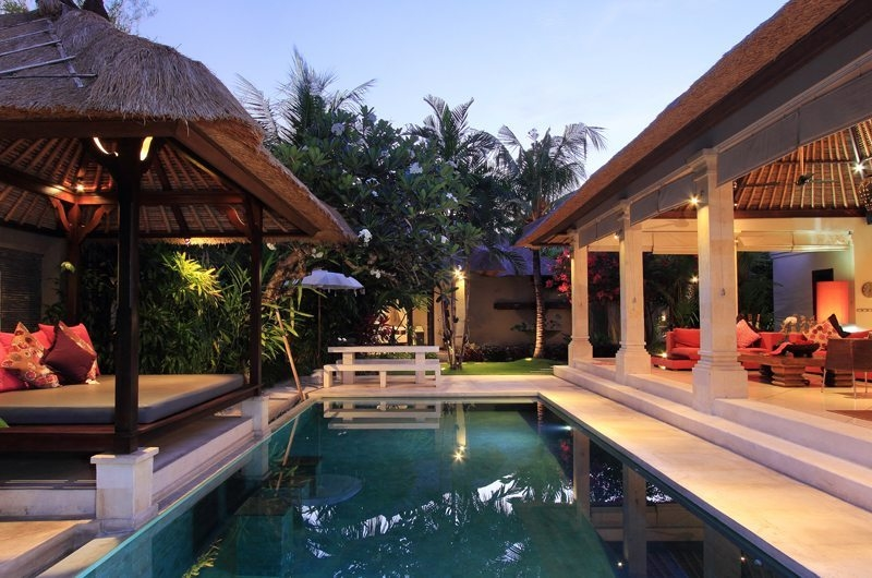 Living Area with Pool View - Villa Maju - Seminyak, Bali