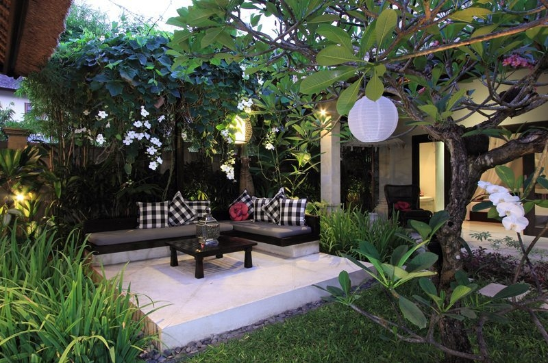 Open Plan Seating Area with Garden View - Villa Maju - Seminyak, Bali
