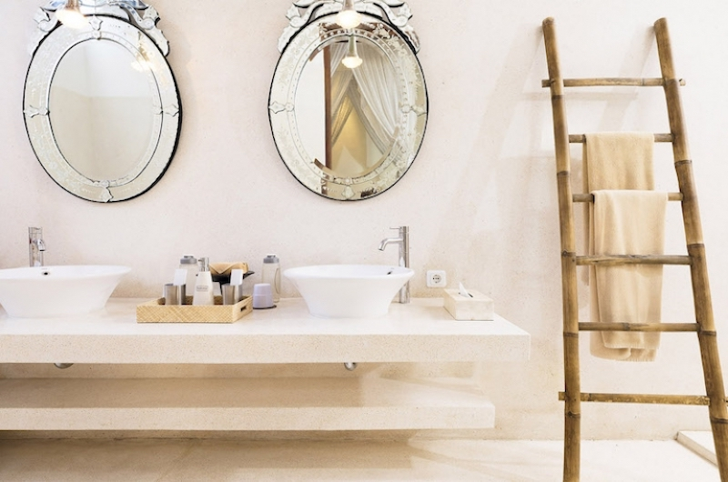 His and Hers Bathroom with Mirrors - Villa Mako - Canggu, Bali