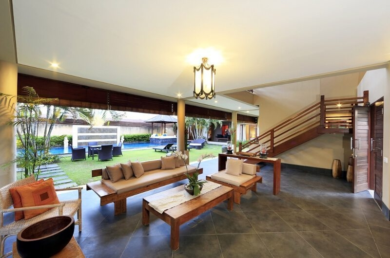 Living Area with Pool View - Villa M Bali Seminyak - Seminyak, Bali