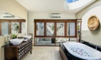 His and Hers Bathroom with Bathtub - Villa M Bali Seminyak - Seminyak, Bali