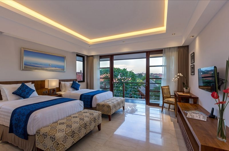 Twin Bedroom and Balcony - Villa Meliya - Umalas, Bali