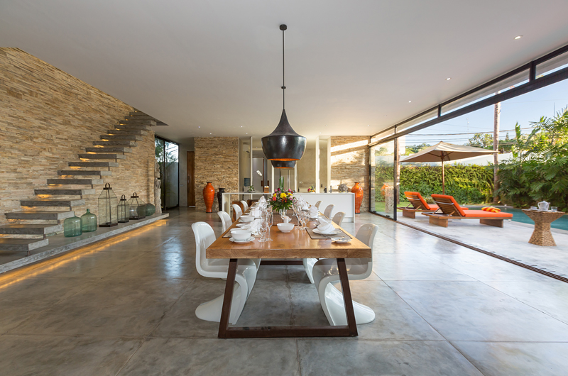 Dining Area with Up Stairs - Villa Mikayla - Canggu, Bali