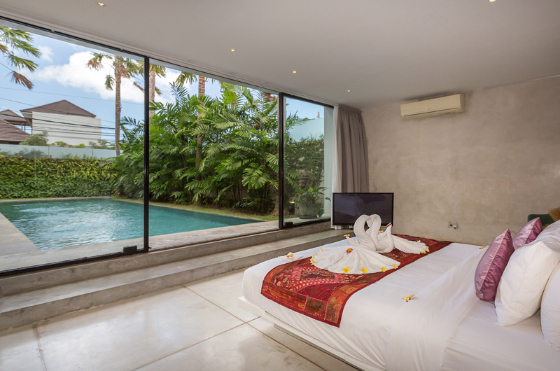 Bedroom with Pool View - Villa Mikayla - Canggu, Bali