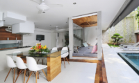 Living and Dining Area with Pool View - Villa Minggu - Seminyak, Bali