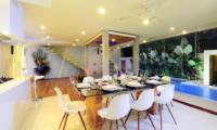 Dining Area with Pool View - Villa Minggu - Seminyak, Bali