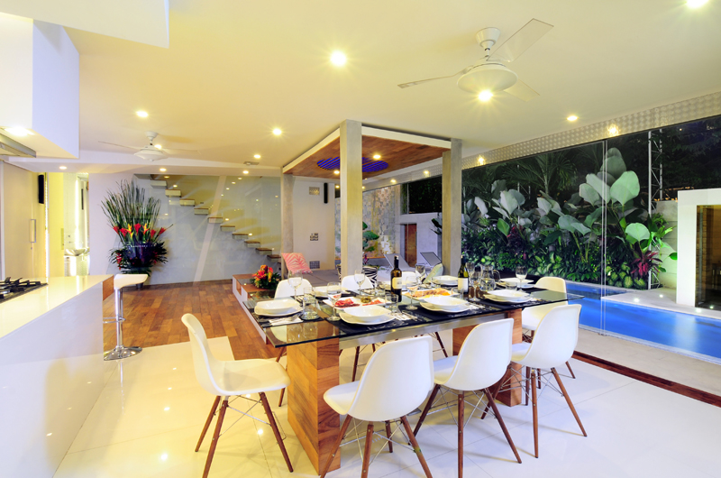 Dining Area with Pool View - Villa Minggu - Seminyak, Bali