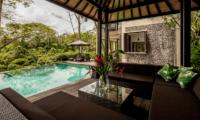 Pool Side Seating Area - Villa Naga Putih - Ubud, Bali