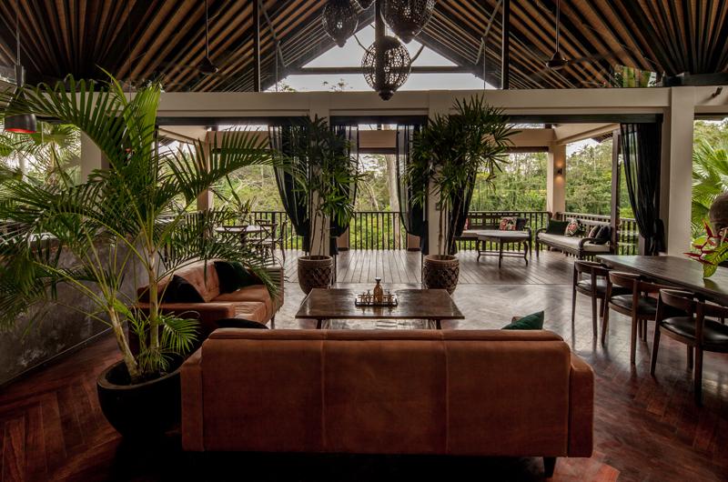 Indoor Living and Dining Area - Villa Naga Putih - Ubud, Bali