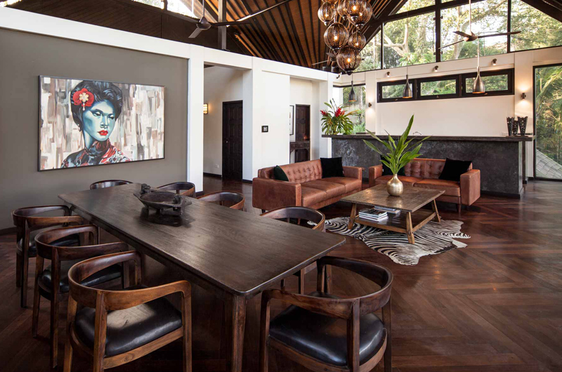 Living and Dining Area - Villa Naga Putih - Ubud, Bali
