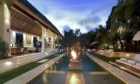 Outdoor Area at Night - Villa Nalina - Seminyak, Bali