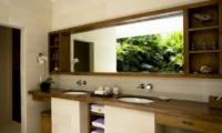 His and Hers Bathroom with Mirror - Villa Nalina - Seminyak, Bali