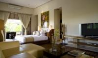 Bedroom with Sofa and TV - Villa Nalina - Seminyak, Bali