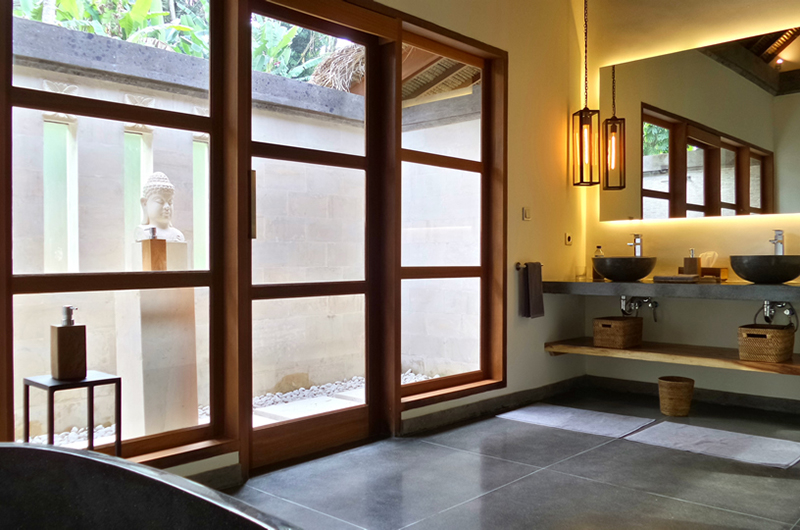 His and Hers Bathroom - Villa Nature - Ubud, Bali