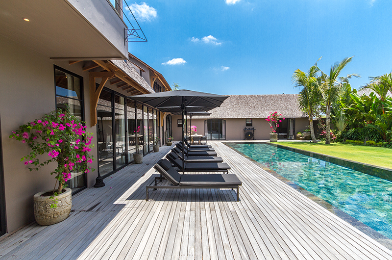 Pool Side Loungers - Villa Nehal - Umalas, Bali