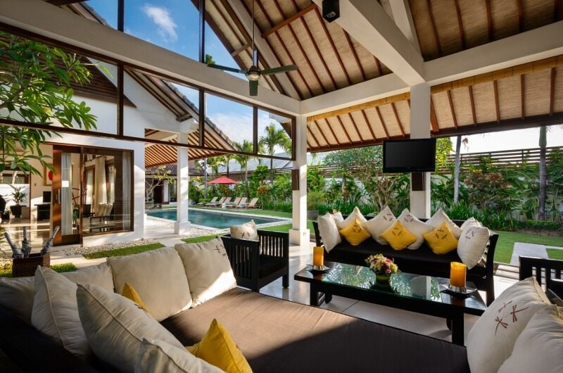 Living Area with Pool View - Villa Noa - Seminyak, Bali