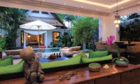 Living Area with Pool View - Villa Novaku - Seminyak, Bali