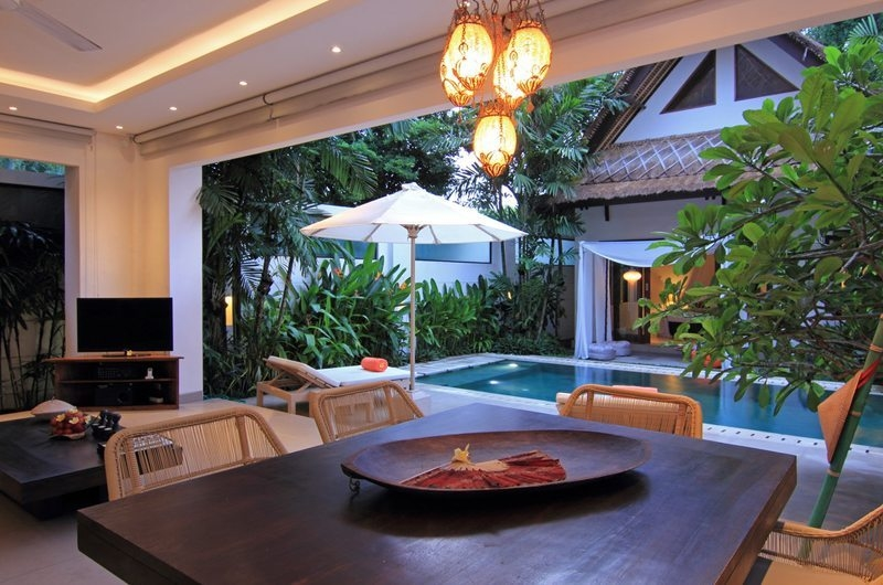 Dining Area with Pool View - Villa Novaku - Seminyak, Bali