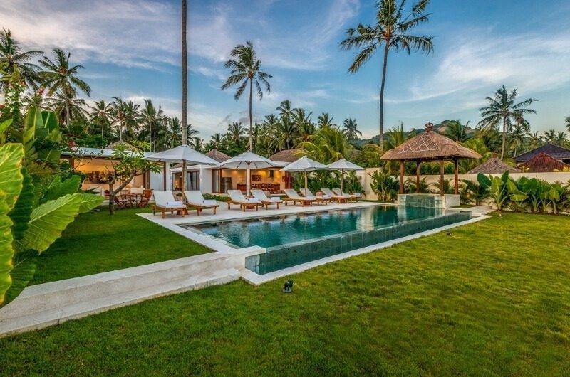 Gardens and Pool - Villa Oceana - Candidasa, Bali