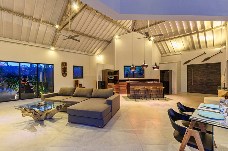 Indoor Living and Dining Area - Villa Ohana - Kerobokan, Bali