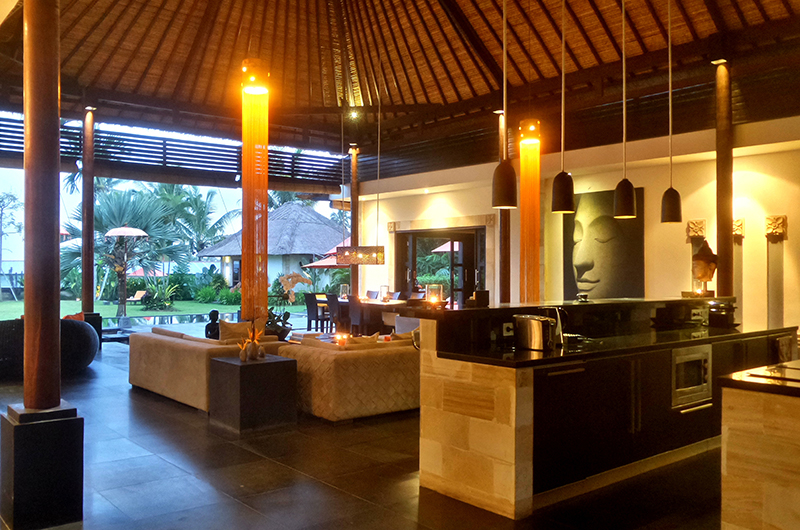 Living and Dining Area - Villa Orchids - Ubud, Bali