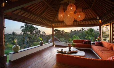Open Plan Seating Area with View - Villa Palem - Tabanan, Bali