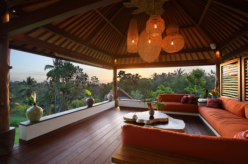 Open Plan Seating Area with View - Villa Palem - Tabanan, Bali