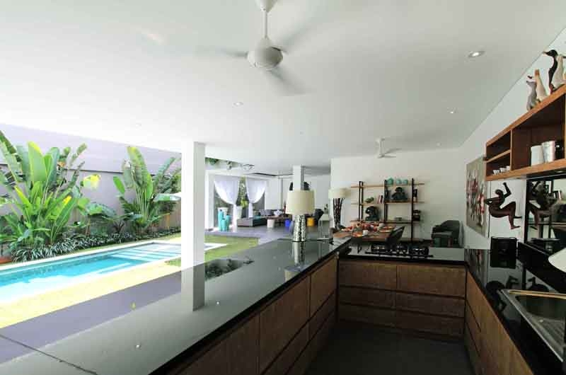 Kitchen with Pool View - Villa Paloma Seminyak - Seminyak, Bali