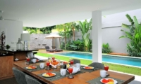 Dining Area with Pool View - Villa Paloma Seminyak - Seminyak, Bali
