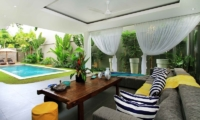 Living Area with Pool View - Villa Paloma Seminyak - Seminyak, Bali