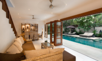 Living Area with Pool View - Villa Puri Temple - Canggu, Bali