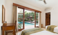 Twin Bedroom with Pool View - Villa Puri Temple - Canggu, Bali