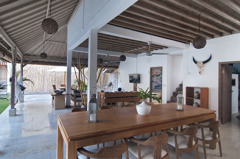 Living, Kitchen and Dining Area - Villa Rabu - Seminyak, Bali