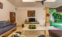 Lounge Area with Garden View - Villa Rasi - Seminyak, Bali