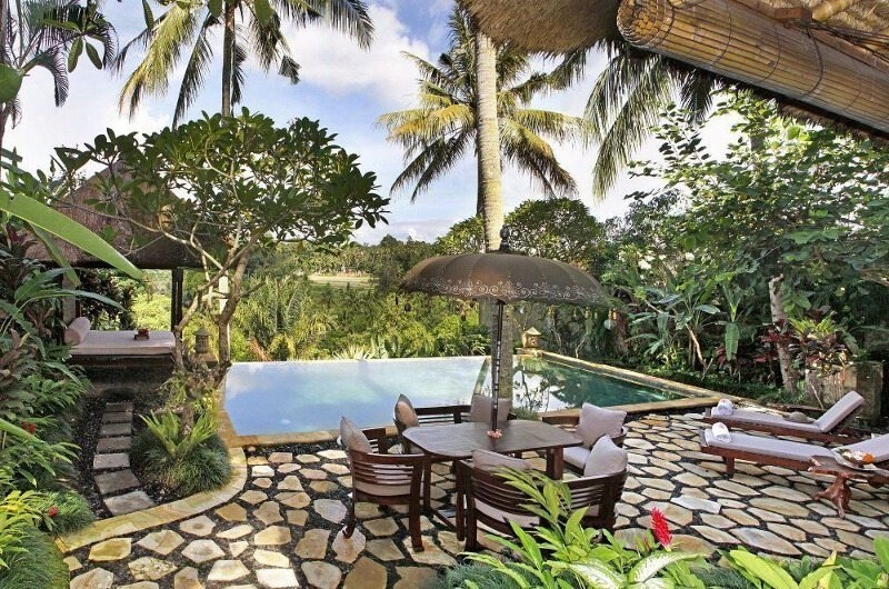 Pool Side Dining - Villa Ria Sayan - Ubud, Bali