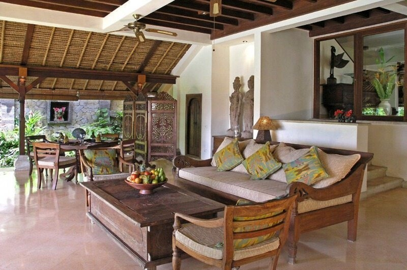 Living and Dining Area - Villa Ria Sayan - Ubud, Bali
