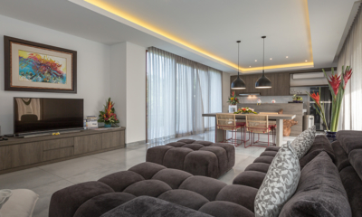 Living, Kitchen and Dining Area - Villa Roemah Natamar - Canggu, Bali