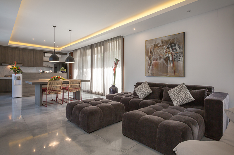 Living and Dining Area - Villa Roemah Natamar - Canggu, Bali