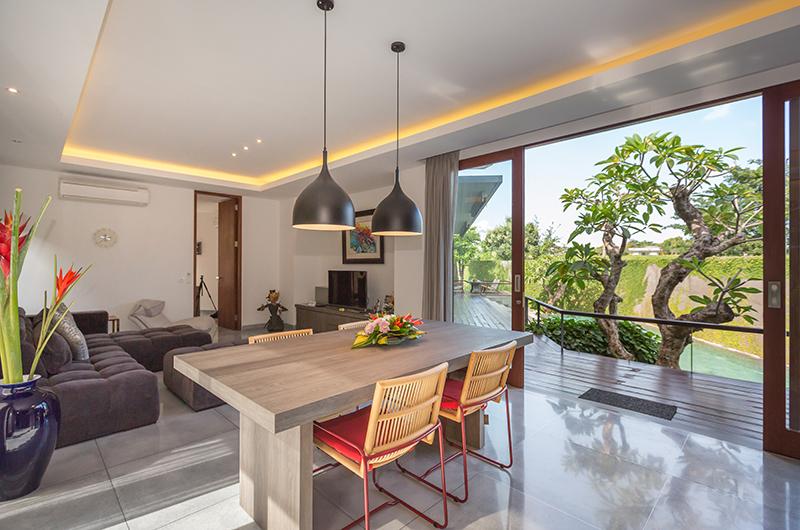 Living and Dining Area with View - Villa Roemah Natamar - Canggu, Bali