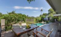 Dining Area with Pool View - Villa Roemah Natamar - Canggu, Bali