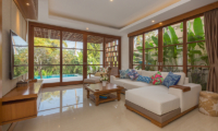 Living Area with Pool View - Villa Rusa Biru - Canggu, Bali