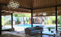 Living Area with Pool View - Villa Samudera - Nusa Lembongan, Bali