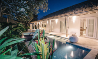Private Pool at Night - Villa Sari - Nusa Lembongan, Bali