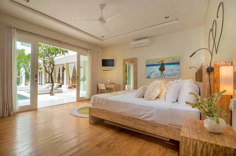 Bedroom with Pool View - Villa Savasana - Canggu, Bali