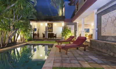 Pool Side Loungers - Villa Selasa - Seminyak, Bali
