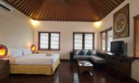 Bedroom with Sofa and TV - Villa Selasa - Seminyak, Bali